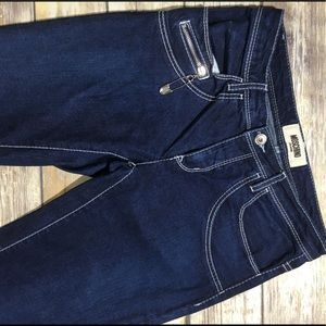 MOSCHINO Safety Pin Dark Wash Jeans